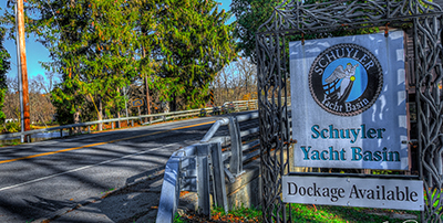 schuyler yacht basin dockage sign